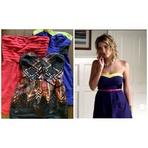 Lot of 3 Strapless Urban Outfitters dresses!